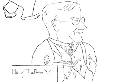 Caricatures of Staff by Peter Robeson